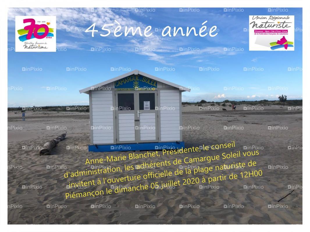 Carte invitation ouverture officielle plage de piemancon 2020
